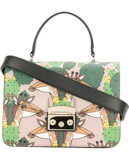 Giraffe Patterned A Metropolis Bag