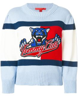 Tommy Cats Cropped Sweater