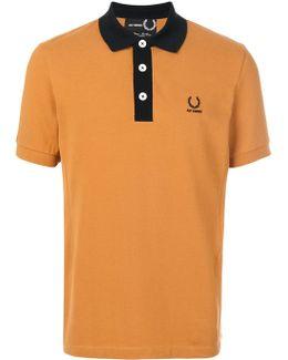 Contrast Collar Pique Polo Shirt