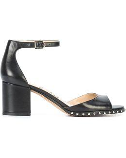 Studded Mid Heel Sandals