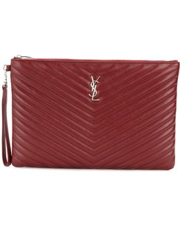 Quilted Monogram Clutch