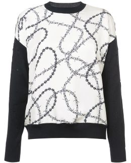 Wire Print Front Jumper
