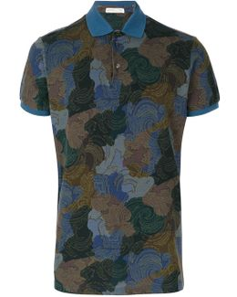 Paisley Camouflage Polo Shirt