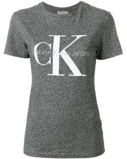 Logo Print Shrunken Effect T-shirt