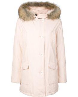 Fur-trim Hooded Coat