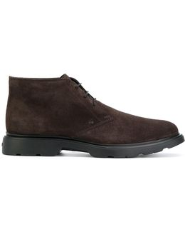 Mid-top Lace-up Derby Shoes
