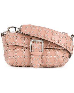 Floral Stud Cross-body Bag