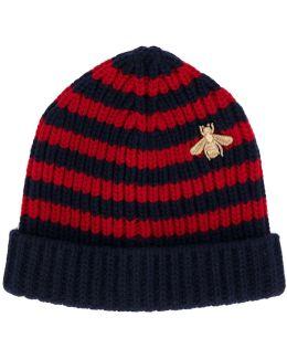 Bee Striped Beanie Hat