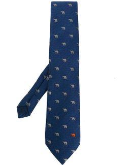 Polar Bear Herringbone Tie