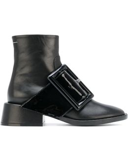 Oversized Buckle Ankle Boots