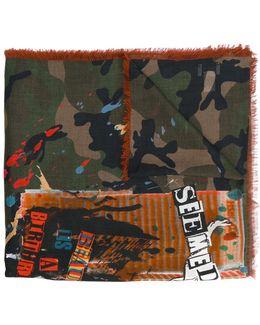 Garavani Thin Camouflage Print Scarf