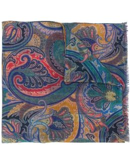 Paisley Checked Scarf