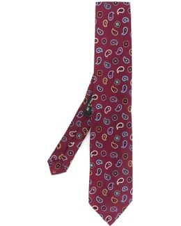 Paisley Embroidery Tie