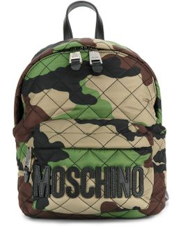 Camouflage Logo Plaque Backpack