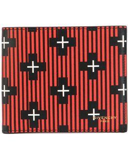 Stripe And Cross Foldover Cardholder