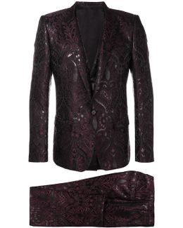 Jacquard Three Piece Suit