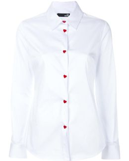 Heart Button Detail Shirt