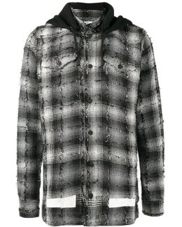 Diagonal Print Shirt Hoodie