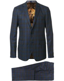 Checked Two-piece Formal Suit
