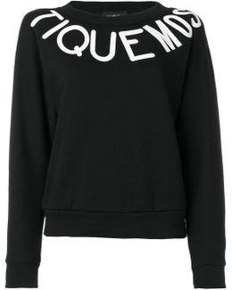 Typography Print Sweatshirt