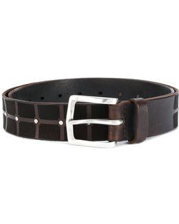 Grid Studded Belt