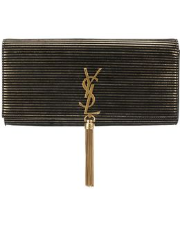 Striped Kate Tassel Clutch