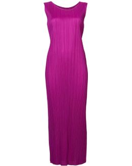 Fitted Pleated Dress