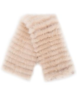 Fur Detailed Mini Scarf