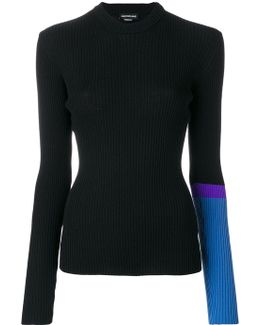 Colour Block Sleeve Jumper