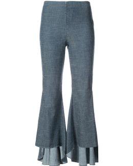 Ruffled Flared Trousers