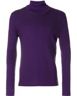 Roll Neck Knit Top