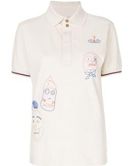 Scribble Print Polo Shirt