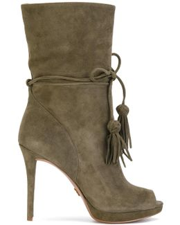 Open Toe Boots