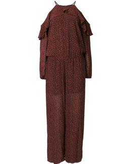 Off-shoulder Printed Jumpsuit