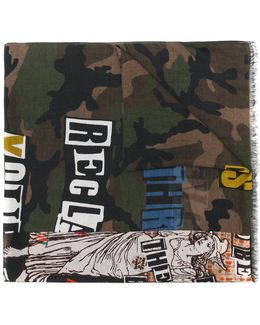 Garavani Printed Camouflage Scarf