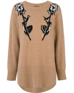 Rose Intarsia Sweatshirt