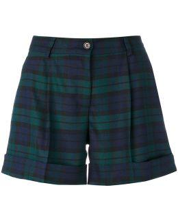 Plaid Tailored Shorts