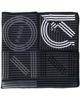 Striped Logo Scarf