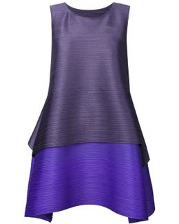 Pleated Texture Layered Dress