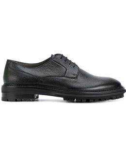 Ridged Sole Oxford Shoes