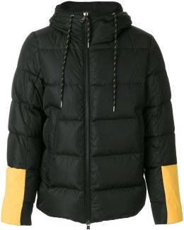 Colour-block Padded Coat