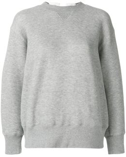 Lace Back Sweatshirt