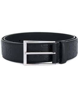 Signature Belt With Rectangular Buckle