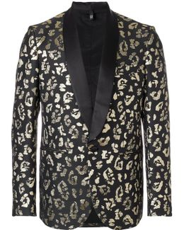Animal Pattern Suit Blazer