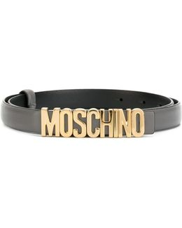 Slim Logo Plaque Belt