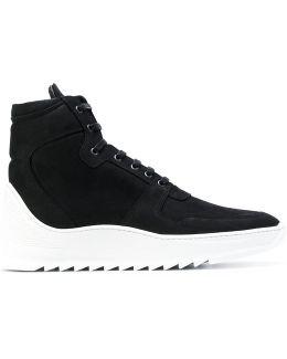 Ridged Sole Hi-top Sneakers