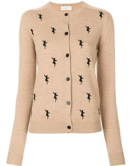 Cat Embroidered Cardigan