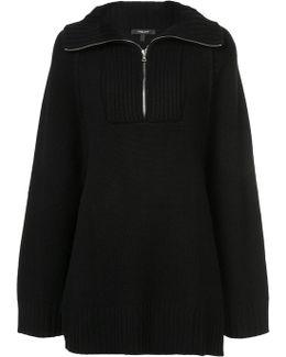 Raglan Zip Up Pullover
