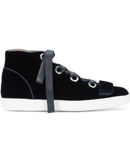 Lace-up Hi-top Sneakers