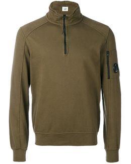 Zipped Neck Sweatshirt